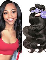Недорогие -3 Связки Индийские волосы Естественные кудри человеческие волосы Remy 100% Remy Hair Weave Bundles Человека ткет Волосы Удлинитель Пучок волос 8-28 дюймовый Нейтральный Ткет человеческих волос
