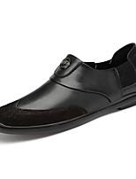 Недорогие -Муж. Официальная обувь Наппа Leather / Кожа Осень / Наступила зима На каждый день Мокасины и Свитер Для прогулок Нескользкий Контрастных цветов Черный / Коричневый / Для вечеринки / ужина