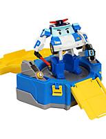 Недорогие -Игрушечные машинки Полицейская машинка Робот трансформируемый Очаровательный обожаемый ПВХ / винил Дети Детские Все Игрушки Подарок