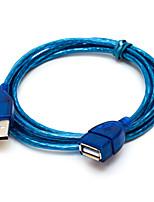 Недорогие -Удлинитель USB 2.0 между мужчинами и женщинами 1,5 м высокоскоростной USB-кабель передачи данных для ПК