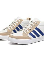 Недорогие -Муж. Комфортная обувь Кожа Лето Кеды Белый