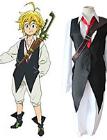 cheap -Inspired by The Seven Deadly Sins Meliodas Anime Cosplay Costumes Japanese Cosplay Suits Vest Shirt Pants For Men's Women's / Tie