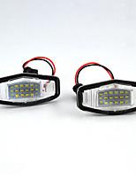 Недорогие -2 шт. / Компл. Светодиодные огни номерного знака для Honda Accord Civic City Одиссея MR-V / пилот