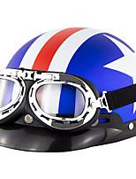 Недорогие -унисекс милый мотоциклетный шлем езда на велосипеде защитный сильный защитный шлем пол-лица с очками