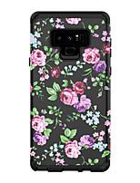 Недорогие -Кейс для Назначение SSamsung Galaxy Note 9 Защита от удара Кейс на заднюю панель Пейзаж / Цветы ПК