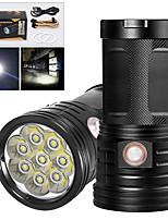 Недорогие -XM8 Светодиодные фонари 6400 lm Светодиодная лампа LED 8 излучатели Руководство 3 Режим освещения с USB кабелем Водонепроницаемый Для профессионалов Анти-шоковая защита