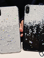 Недорогие -чехол для яблока iphone xs / iphone xr / iphone xs max противоударный / imd / прозрачный задняя крышка прозрачная / декорации / блестящий тпу для iphone6 / 6s плюс iphone7 / 8 plus iphonex / xs max /