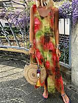 Недорогие -Жен. Оболочка Платье - Радужный Макси