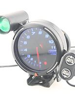 Недорогие -3,75 автомобильный манометр 3 3/4 дюйма тахометр метр 12v синий светодиод с подсветкой оборотов