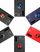 Недорогие -Кейс для Назначение SSamsung Galaxy Samsung Note 10 / Galaxy Note 10 Plus Кольца-держатели / Ультратонкий Кейс на заднюю панель Однотонный ПК