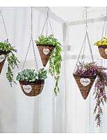 Недорогие -1шт Вазы и корзины Круглые Искуственные цветы Ретро