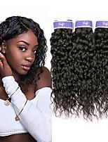 Недорогие -3 Связки Бразильские волосы Волнистые Не подвергавшиеся окрашиванию 100% Remy Hair Weave Bundles Человека ткет Волосы Удлинитель Пучок волос 8-28 дюймовый Естественный цвет Ткет человеческих волос