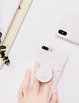 Недорогие -Кейс для Назначение Apple iPhone XS / iPhone XR / iPhone XS Max со стендом / С узором Кейс на заднюю панель Мрамор ТПУ