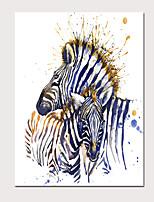 Недорогие -С картинкой Отпечатки на холсте - Абстракция Животные Modern Репродукции