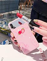 Недорогие -Кейс для Назначение Apple iPhone XS / iPhone XR / iPhone XS Max Зеркальная поверхность / Ультратонкий / С узором Кейс на заднюю панель Продукты питания / Слова / выражения / Мультипликация