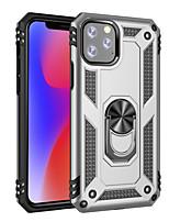 Недорогие -Кейс для Назначение SSamsung Galaxy J7 (2018) / J6 Plus / J4 Plus Защита от удара / Кольца-держатели Кейс на заднюю панель Однотонный / броня ТПУ