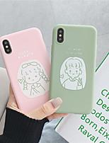Недорогие -чехол для яблока iphone xs / iphone xr / iphone xs max рисунок задняя крышка мультфильм тпу для iphone x xs 8 8plus 7 7plus 6 6plus 6s 6s plus