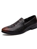 Недорогие -Муж. Комфортная обувь Микроволокно Наступила зима Мокасины и Свитер Черный / Коричневый