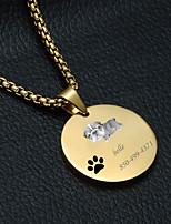 Недорогие -Персонализированные Индивидуальные Мопс Теги для домашних животных Классический Подарок Повседневные 1pcs Золотой Серебряный