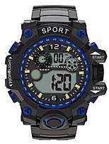 Недорогие -Мальчики электронные часы Цифровой Спортивные Стильные Кожа силиконовый Черный 30 m Защита от влаги Фосфоресцирующий Повседневные часы Цифровой На каждый день Мода - Черный Зеленый Желтый / Один год