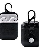Недорогие -Роскошная сумка для Apple Airpods Bluetooth беспроводные наушники кожаный чехол чехол для стручков воздуха 1 2 Фундамент зарядное устройство коробки