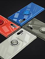 Недорогие -Кейс для Назначение SSamsung Galaxy Samsung Note 10 / Galaxy Note 10 Plus Ультратонкий / Прозрачный Кейс на заднюю панель Прозрачный ТПУ