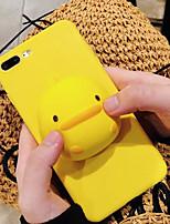 Недорогие -чехол для яблока iphone xs max / iphone 8 plus пылезащитный / с подставкой задняя крышка мультфильм / 3d мультфильм тпу / силикагель для iphone 7/7 plus / 8/6/6 plus / xr / x / xs