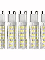 Недорогие -5 шт. 4.5 W LED лампы типа Корн 450 lm G9 T 76 Светодиодные бусины SMD 2835 Диммируемая Тёплый белый Холодный белый 110 V