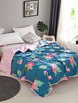 Недорогие -удобный - 1 одеяло Все сезоны Полиэстер Цветочный принт / Простой / Мультипликация