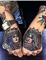 Недорогие -5 шт. Водонепроницаемый временная наклейка татуировки ручная роспись прохладный темный череп лицо письмо воды передачи поддельные татуировки флэш-татуировки для мужчин, женщин