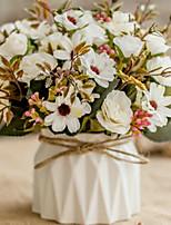 Недорогие -Искусственные Цветы 1 Филиал Классический европейский Пастораль Стиль Розы Гортензии Ромашки Букеты на стол
