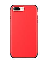 Недорогие -Кейс для Назначение Apple iPhone 8 Pluss Защита от удара Кейс на заднюю панель Однотонный ПК / силикагель