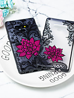 Недорогие -Кейс для Назначение SSamsung Galaxy Note 9 / Note 8 Прозрачный Кейс на заднюю панель Цветы ТПУ / ПК