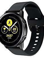 Недорогие -Ремешок для часов для Gear S2 Classic / Samsung Galaxy Watch Active Samsung Классическая застежка силиконовый Повязка на запястье