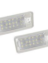 Недорогие -2 шт. / Компл. Светодиодные номерные знаки, светодиодные лампы для Audi A3 / A4 / A6 / A8 / RS4 / RS6
