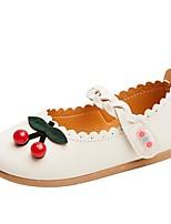 Недорогие -Девочки Детская праздничная обувь Синтетика На плокой подошве Маленькие дети (4-7 лет) Черный / Бежевый / Розовый Весна