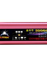 Недорогие -высокое качество автомобильного инвертора 12vand24v до 110v 2000w многофункциональное автомобильное зарядное устройство / инвертор / конвертер с USB-разъемом