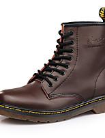 Недорогие -Муж. Кожаные ботинки Кожа Зима Спортивные / На каждый день Ботинки Сохраняет тепло Ботинки Черный / Винный / Темно-коричневый / на открытом воздухе / Офис и карьера / Зимние сапоги