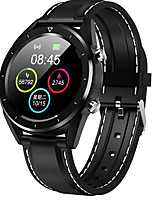 cheap -Smartwatch Digital Modern Style Sporty Silicone 30 m Water Resistant / Waterproof Heart Rate Monitor Bluetooth Digital Casual Outdoor - Black Black / Gray Silver