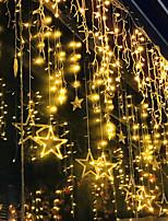 Недорогие -2.5 м мерцание звезды 12 звезд 138 светодиодные занавес строки огни окна занавес огни с 8 мигающими режимами украшения на рождество свадьба украшения дома 220-240 В