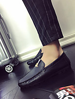 cheap -Men's PU Spring & Summer / Fall & Winter Business / Casual Loafers & Slip-Ons Walking Shoes Breathable Black / White / Orange
