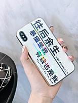 Недорогие -Кейс для Назначение Apple iPhone XS / iPhone XR / iPhone XS Max Ультратонкий / С узором Кейс на заднюю панель Слова / выражения / Мультипликация Закаленное стекло