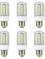 Недорогие -6шт 15 W LED лампы типа Корн 300 lm E14 B22 E26 / E27 T 138 Светодиодные бусины SMD 4014 Новый дизайн Тёплый белый Белый 220-240 V 110-130 V