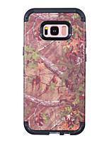 Недорогие -Кейс для Назначение SSamsung Galaxy S8 Защита от удара Кейс на заднюю панель Имитация дерева / Пейзаж / дерево ПК