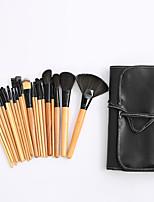 Недорогие -профессиональный Кисти для макияжа 24pcs Очаровательный Мягкость Новый дизайн удобный Деревянные / бамбуковые за Косметическая кисточка