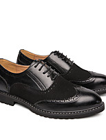 cheap -Men's Formal Shoes Nappa Leather Spring & Summer / Fall & Winter British Oxfords Non-slipping Black / Brown / Party & Evening