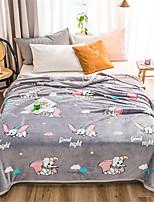 Недорогие -Одеяла, Цветочный принт / Простой / Мультипликация Полиэстер Мягкость удобный одеяла
