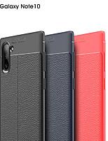Недорогие -Кейс для Назначение SSamsung Galaxy Samsung Note 10 / Galaxy Note 10 Plus Защита от пыли / Ультратонкий Кейс на заднюю панель Однотонный Кожа PU / силикагель