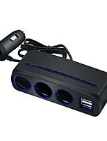 Недорогие -адаптер прикуривателя несколько портов USB автомобильное зарядное устройство прикуриватель моделиpearl черный