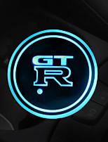 Недорогие -Brelong светодиодный автомобильный подстаканник лампа многоцветная регулировка usb зарядка pad каботажное судно светодиодная лампа для атмосферы в помещении